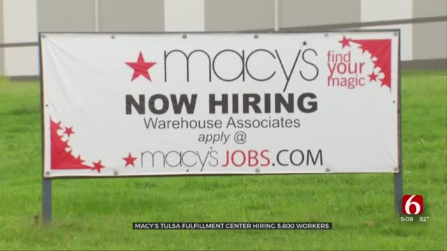 Macy's Fulfillment Center In Owasso Hiring Thousands Of Holiday Workers