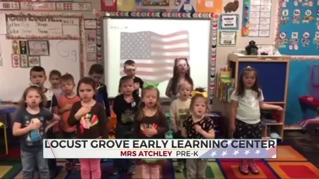 Daily Pledge: Mrs. Atchley's Pre-K Class