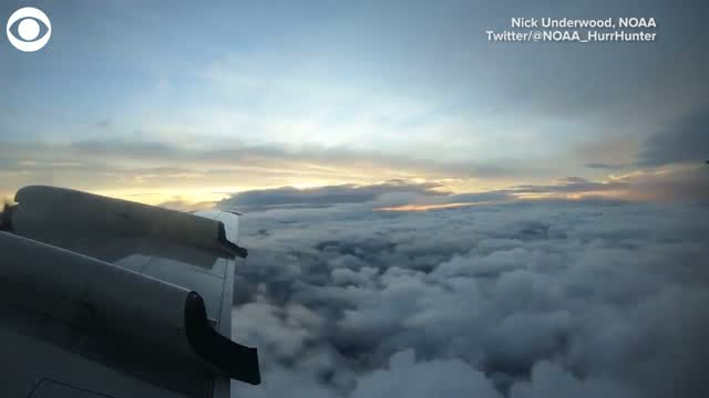 WATCH: Hurricane Laura Timelapse From Above The Storm