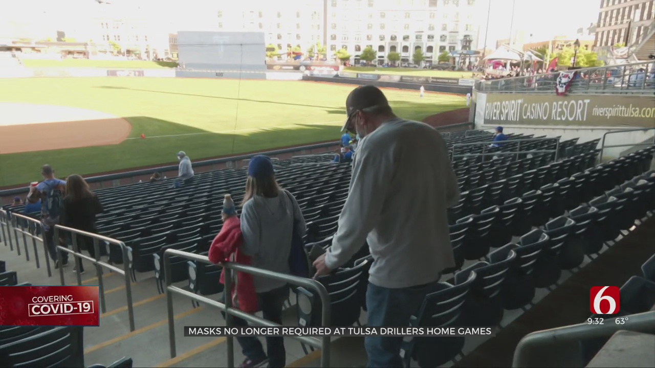 Tulsa Drillers Drop Mask Requirement For Home Games