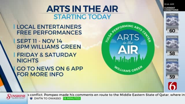 Local Entertainers To Perform at New 'Arts In The Air' Free Event Series