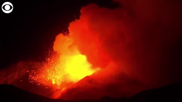 Watch: Mount Etna In Italy Erupts