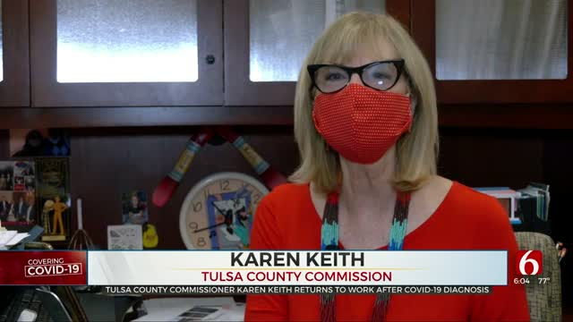 Tulsa Co. Commissioner Karen Keith Returns To Work After COVID-19 Diagnosis
