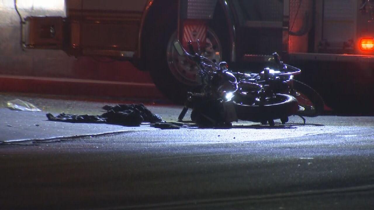 Tulsa Police Investigate Motorcycle Crash Near East Pine Street, North Peoria Avenue