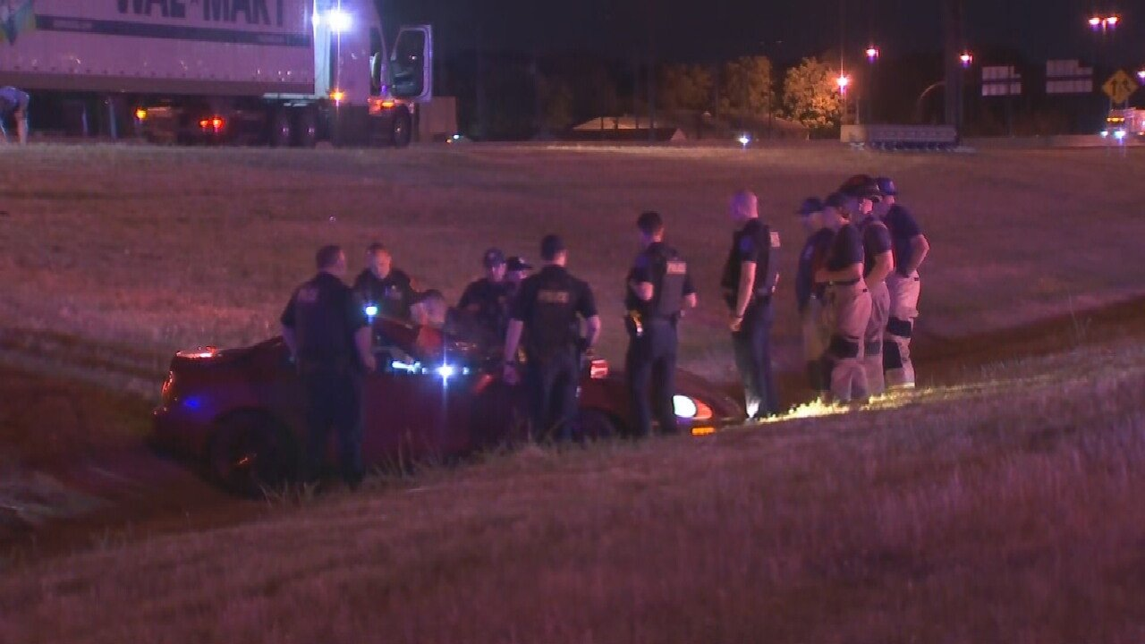 1 Person Hospitalized After Crashing Into Semi In Tulsa