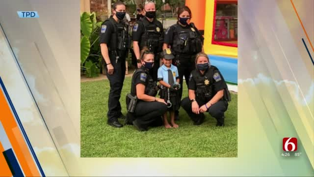 TPD Officers Surprise Young Girl At Zootopia-Themed Birthday Party