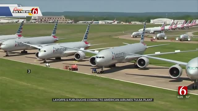 Layoffs, Furloughs Coming To American Airlines Tulsa Plant