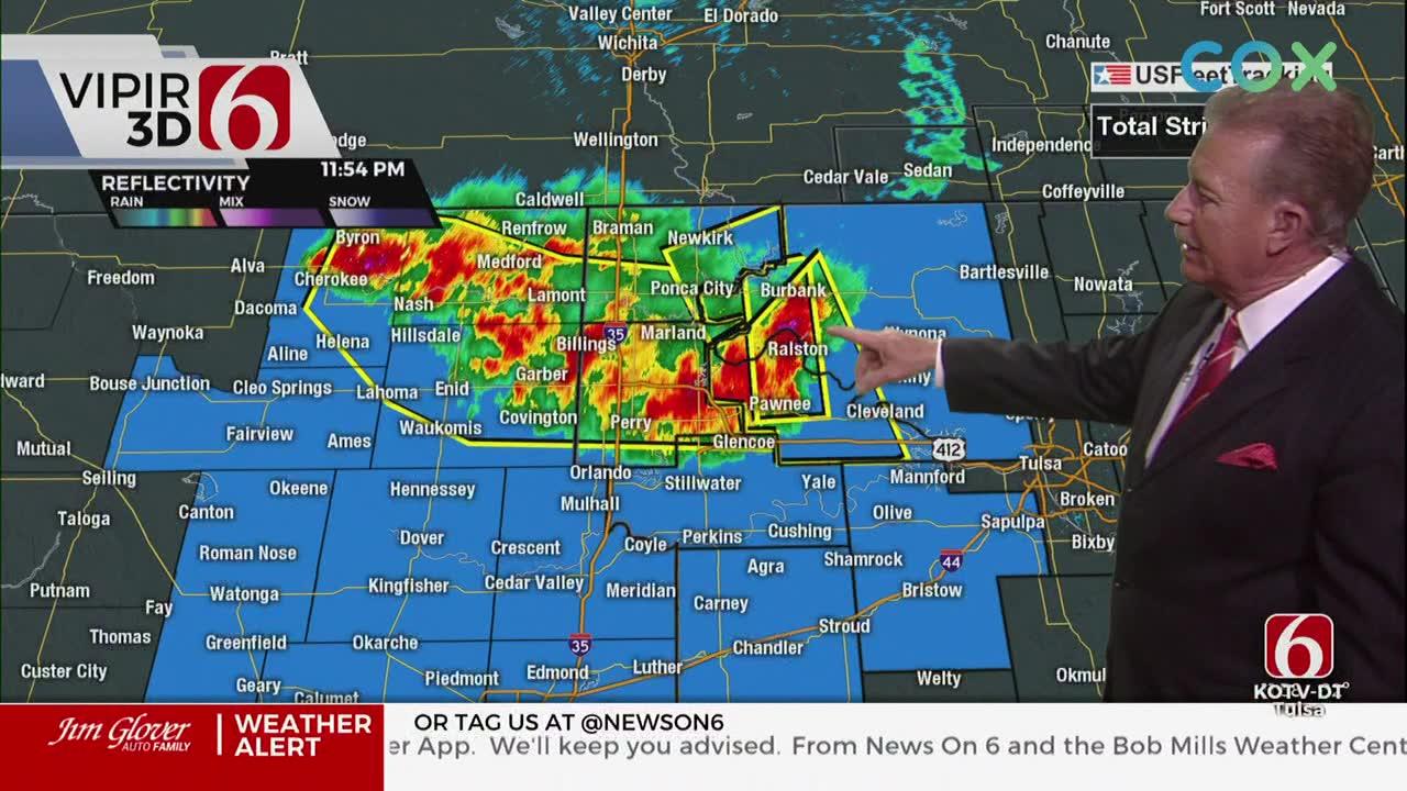 Northeastern Oklahoma Under Severe Thunderstorm Watch Friday Night
