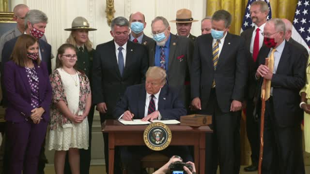 President Trump Signs Great American Outdoors Act