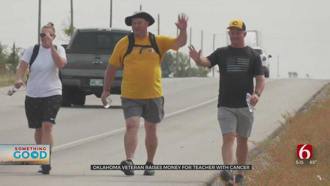 Oklahoma Veteran Walking 60 Miles To Raise Money For Teacher Battling Cancer