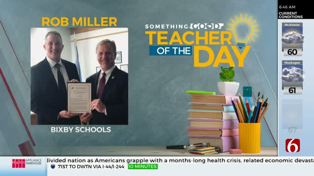Something Good: Teacher Of The Day Rob Miller