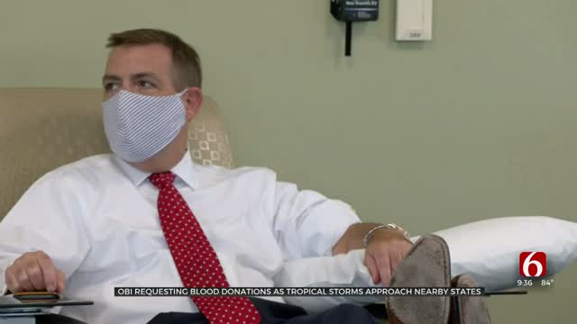OBI Requesting Blood Donations As Tropical Storms Approach Nearby States