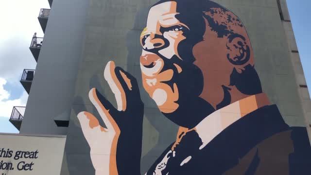 Hundreds Of People Remember Congressman John Lewis at Atlanta Mural
