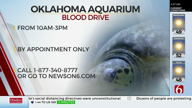 OBI Holding Blood Drive At Oklahoma Aquarium Tuesday