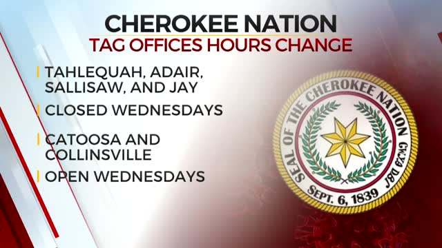 Some Cherokee Nation Tag Offices Close Wednesdays To Process Requests