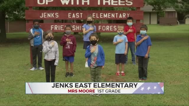 Daily Pledge: Mrs. Moore's 1st Grade Class