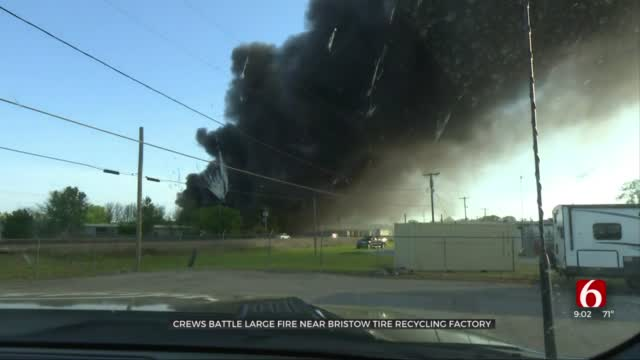 Crews Respond To Large Fire In Bristow