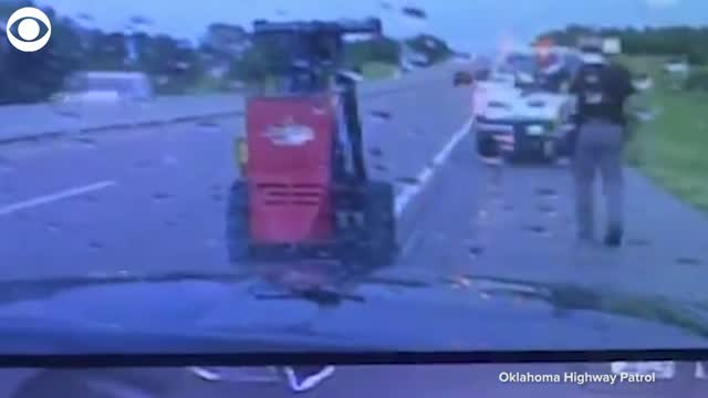 WATCH: OHP Trooper Has Close Call With Lightning Strike