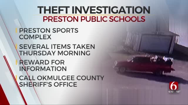 Okmulgee Co. Deputies Searching For Vehicle Involved In Preston School Theft