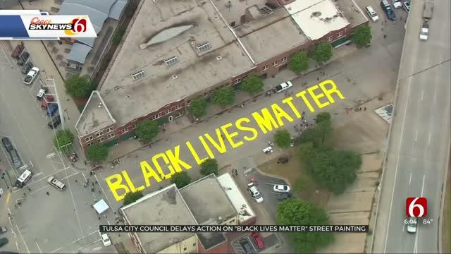Tulsa City Council Delays Action On Black Lives Matter Mural