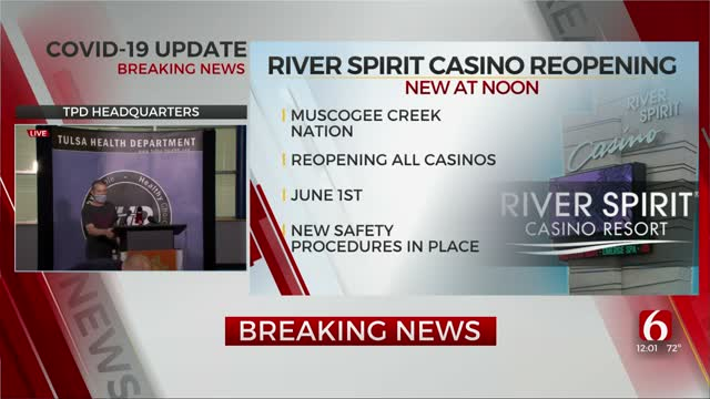 River Spirit Casino Resort Announces June Reopening