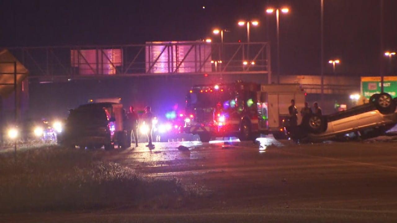 1 Killed After 3-Car Crash On Broken Arrow Expressway