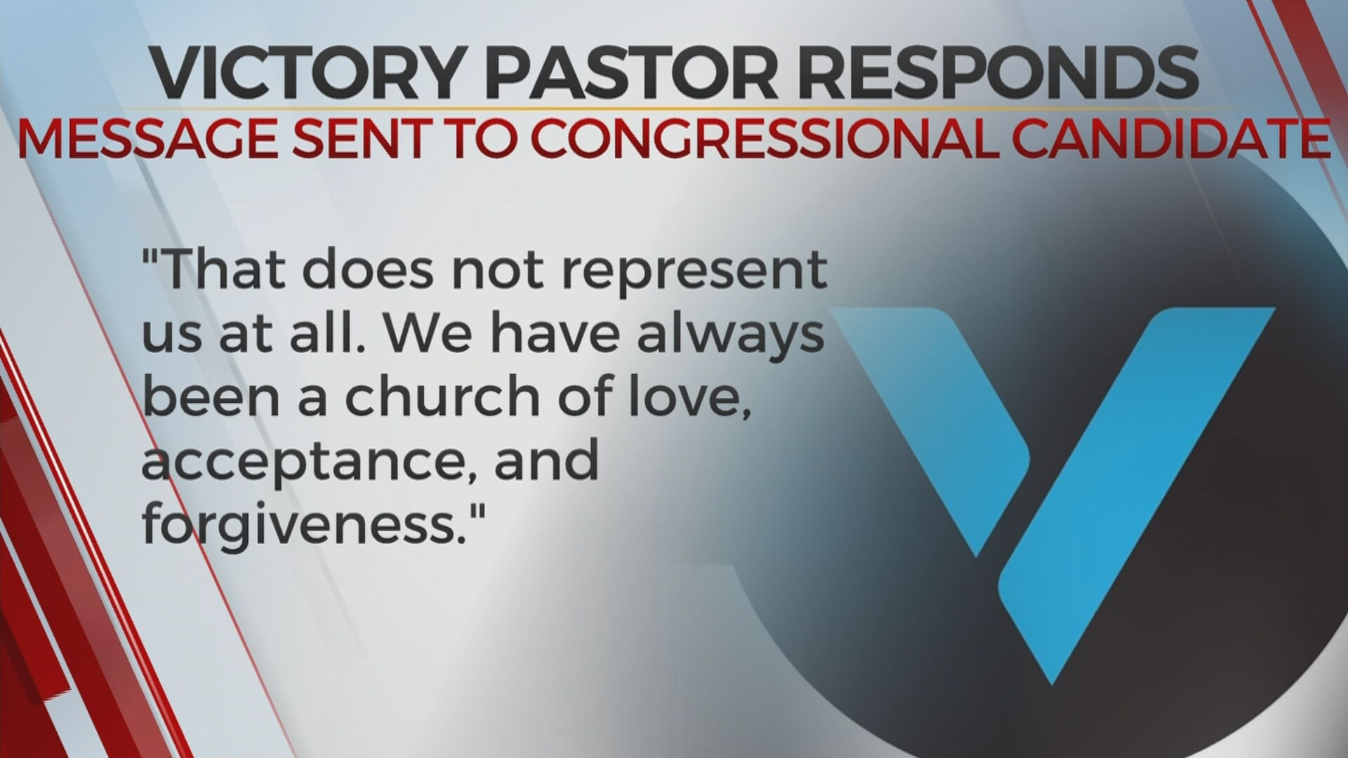 Pastor Condemns Remarks Made By Employee About Congressional Candidate