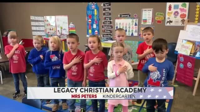 Daily Pledge: Mrs. Peters' Kindergarten Class