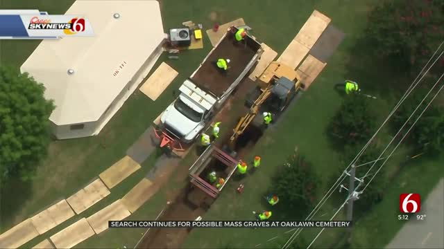 Day 4 Of Search At Oaklawn Cemetery For Possible Mass Graves