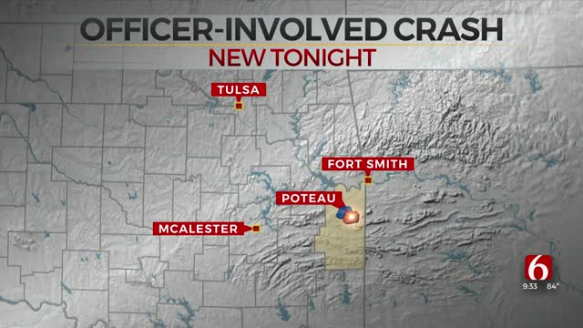 OHP Reports Officer-Involved Crash In LeFlore County