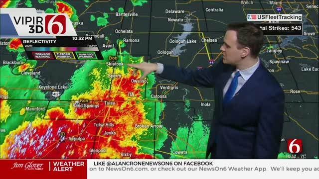 WATCH: Severe Weather Update With Stephen Nehrenz (10:36 p.m.)