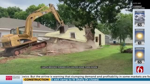 Garth Brooks' Former Stillwater House Torn Down
