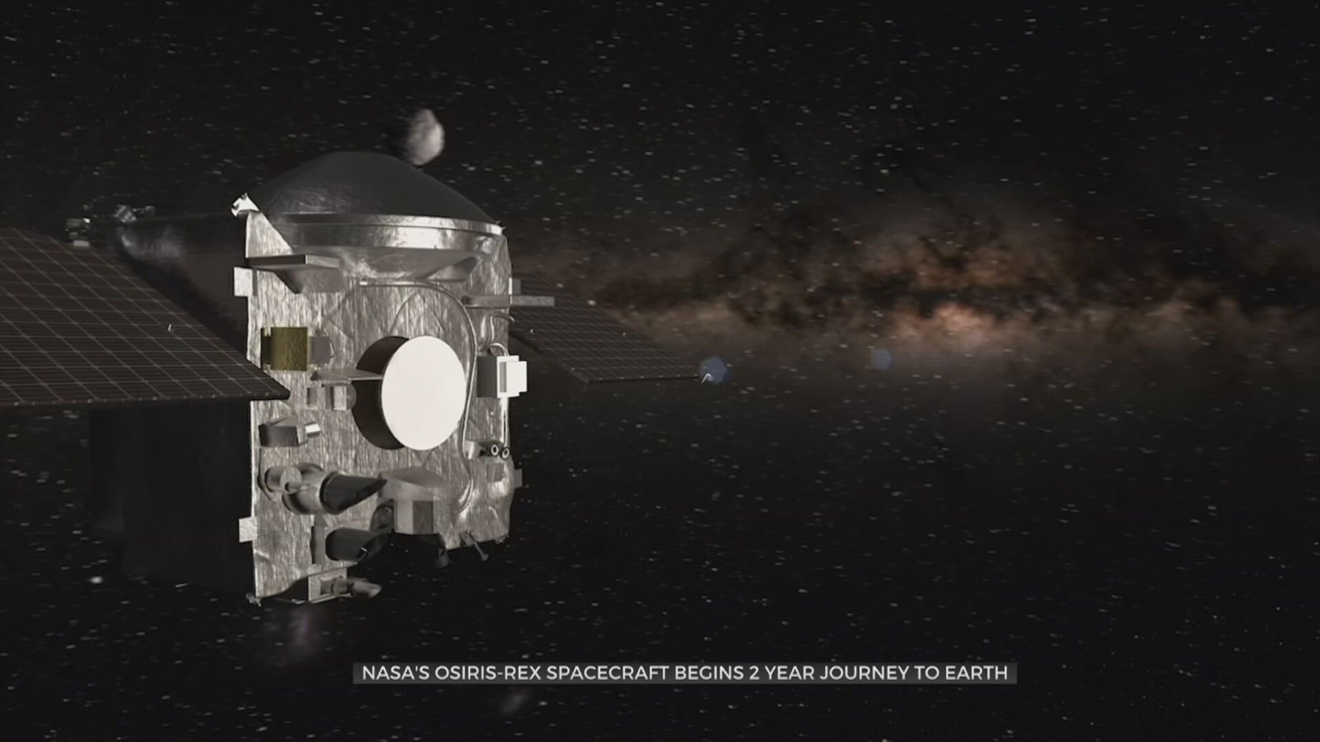 NASA's Osiris-Rex Spacecraft Begins 2-Year Journey To Earth