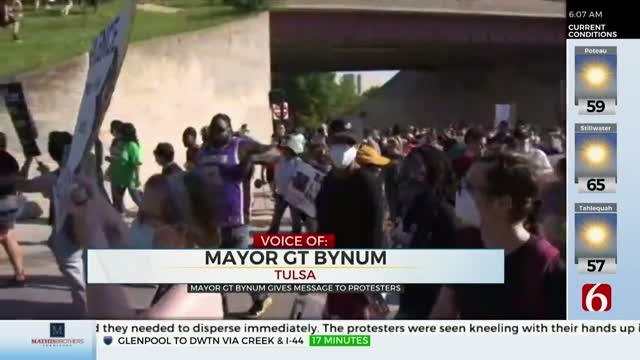 Watch: Tulsa Mayor G.T. Bynum Responds To Protests