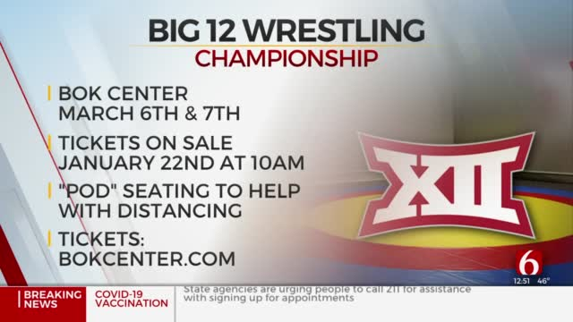 Tulsa's BOK Center To Host Big 12 Wrestling Championship