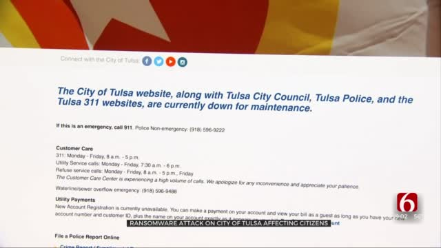 Ransomware Attack On City Of Tulsa Impacts Citizens, City Services