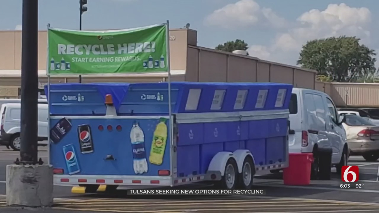 Tulsans Finding Alternative Recycling Methods; PepsiCo Sets Up Sites To Help