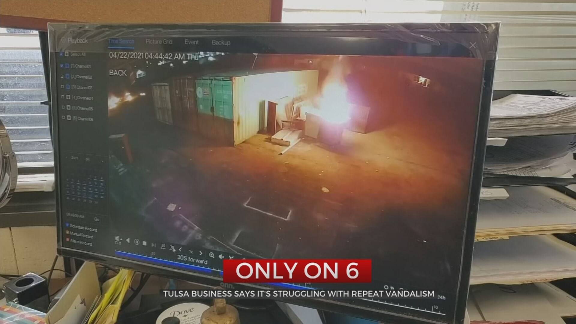 Accused Arsonist Damages Tulsa Business In Dumpster Fire Explosion