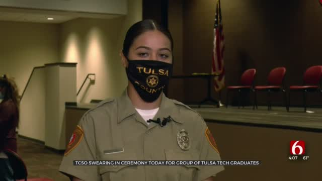 Tulsa Tech Criminal Justice Graduates Sworn In As TCSO Detention Officers