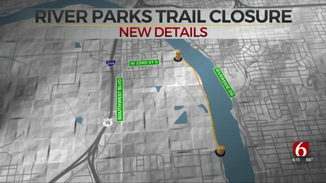 Part Of Tulsa's River Parks Trails To Close For Construction