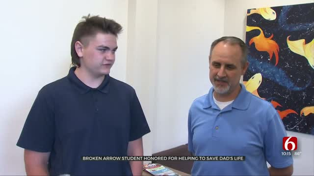 Broken Arrow Student Honored For Helping Save Dad's Life