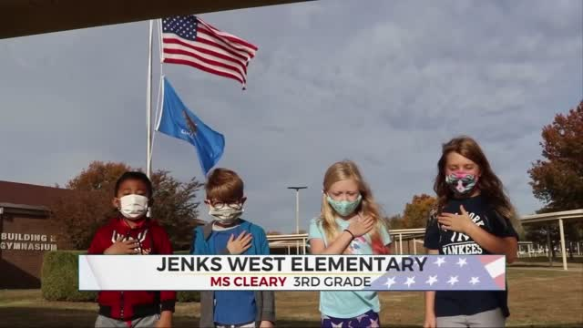 Daily PLedge: Ms. Cleary 3rd Garde Class From Jenks West Elementary