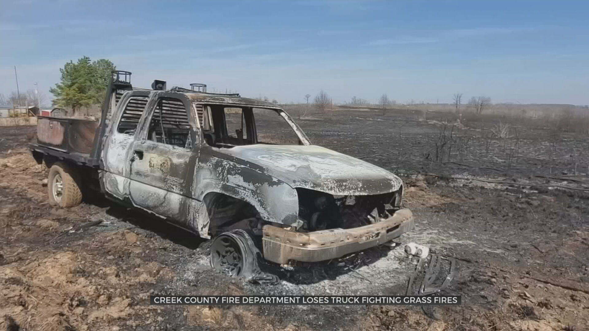 Creek County Volunteer Firefighters Lose Truck While Fighting Grass Fires