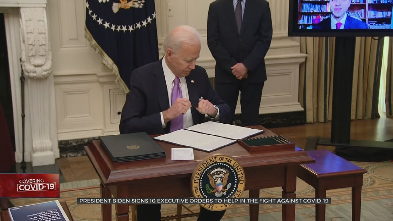 Biden Lays Out COVID-19 Strategy On First Full Day In Office