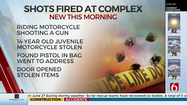 Tulsa Police: Juvenile Arrested After Driving Stolen Motorcycle, Shooting Gun Into Air