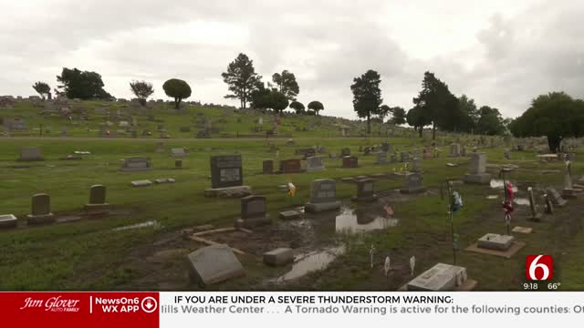 May Weather Floods Graves In Pryor During Memorial Day