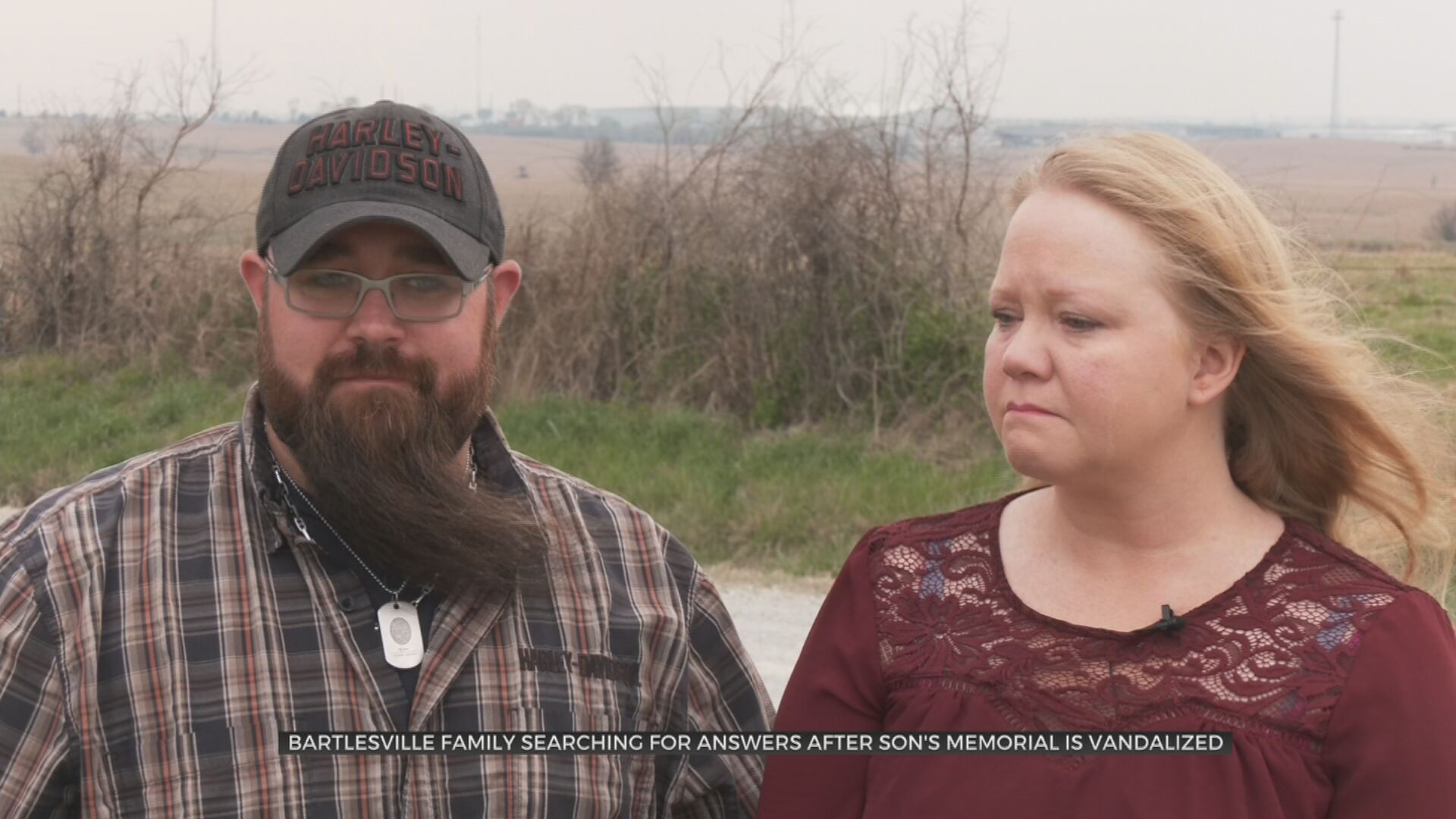 Bartlesville Couple Wants Peace, Answers After Memorial Marking Son's Murder Is Destroyed