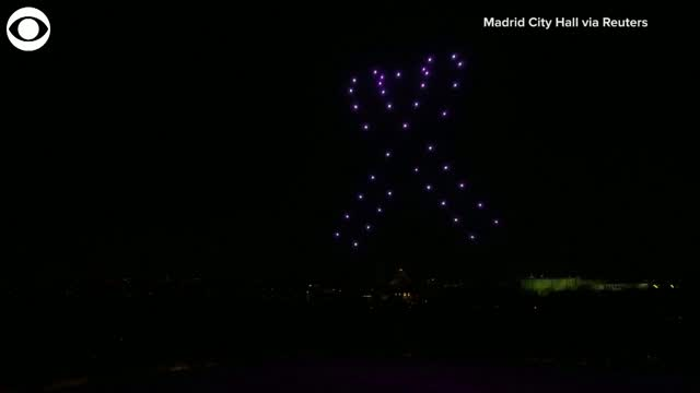 Drone Light Show Honors COVID-19 Victims, Thanks Frontline Workers
