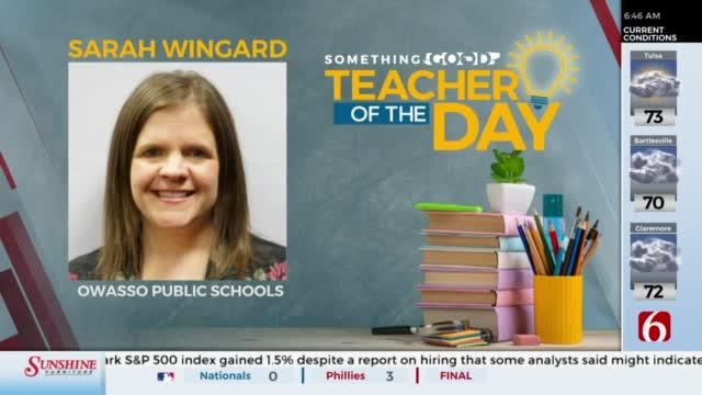 Teacher Of The Day: Sarah Wingard