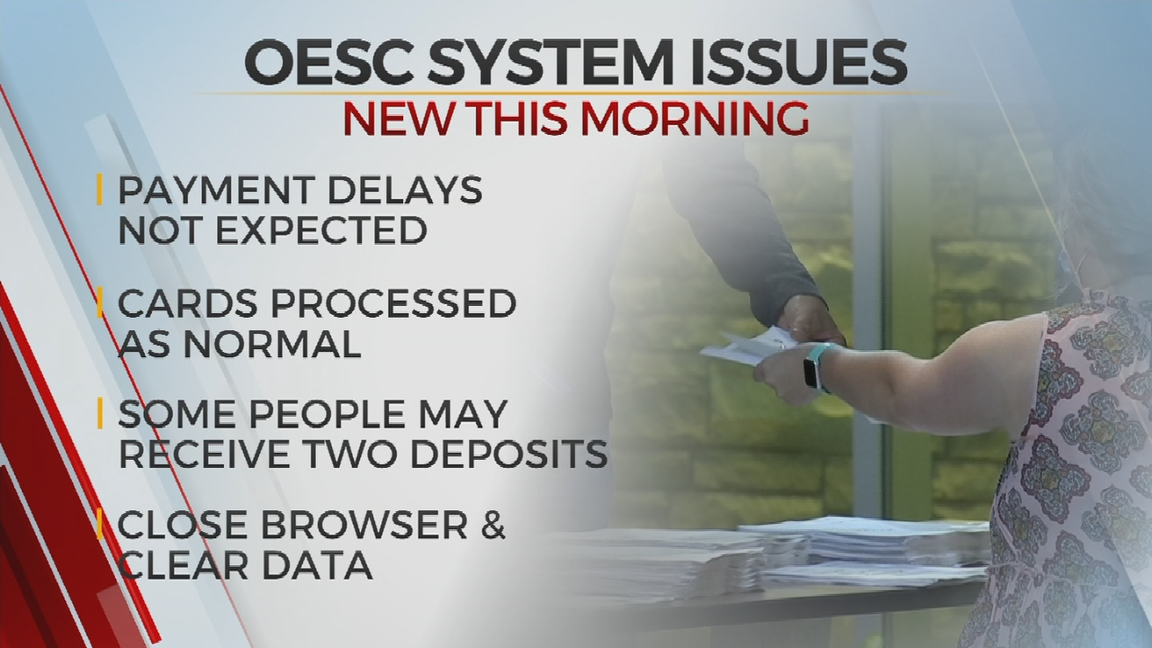 OESC: System Error Not Expected To Cause Delay In Weekly Payments